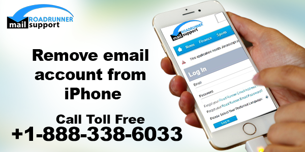 Remove email account from iPhone
